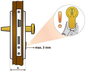 kilógás maximum 3 mm, a letörésvédelem miatt