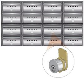 postaládák fémszerkezetzárral