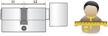 L1 oldal a külvilág felé, L2 befelé