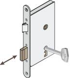 tollas kulcson keresztül nyitott bevéső zár