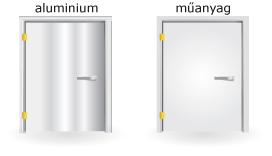 alumínium és műanyag ajtók