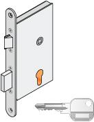 bevéső zár kulccsal