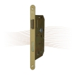 GERA 21 mortise lock, right, with rounded face plate, o.W. 235/20