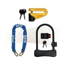 BASI ZR1500 kulcsos csuklós-kerékpárzár 8x19cm fekete