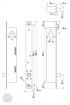 EFFEFF 843 Zy-1 cilinderes retesz 12/24V méretezett rajz