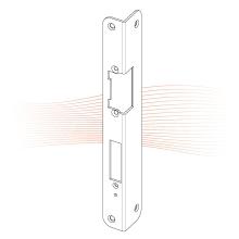 EFFEFF 488 iW standard hajlított előlap balos rozsdamentes acél