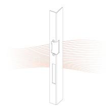 EFFEFF 420 iW standard hajlított előlap balos rozsdamentes acél