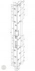 EFFEFF 071 SiiW standard hajlított előlap balos arany méretezett rajz