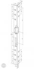 EFFEFF 312 SiiW standard hajlított előlap balos arany méretezett rajz
