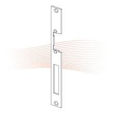 EFFEFF 049 HZ standard lapos előlap univerzális rozsdamentes acél