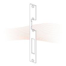 EFFEFF 331 HZ standard lapos előlap univerzális rozsdamentes acél