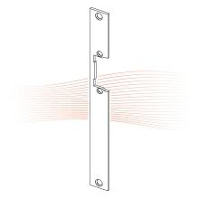 EFFEFF 385 HZ standard lapos előlap univerzális rozsdamentes acél