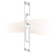 EFFEFF 843 HZ standard lapos előlap univerzális rozsdamentes acél