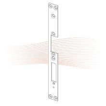 EFFEFF 003 HZ standard lapos előlap balos rozsdamentes acél