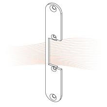 EFFEFF 121 kl rövid lapos előlap univerzális rozsdamentes acél