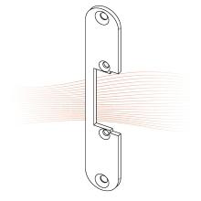 EFFEFF 126 kl rövid lapos előlap univerzális rozsdamentes acél