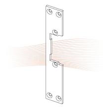 EFFEFF 436 kl rövid lapos előlap balos rozsdamentes acél