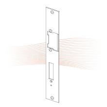 EFFEFF 851 HZF standard lapos nyelvvezetős előlap balos rozsdamentes acél