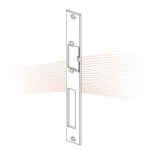 EFFEFF 543 HZ standard lapos nyelvvezetős előlap univerzális rozsdamentes acél