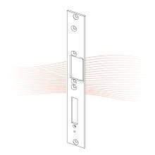 EFFEFF 095 HZF standard lapos nyelvvezetős előlap balos rozsdamentes acél