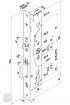 EFFEFF 509X elektromotoros bevéső zár, 12-24V DC, 92/30/24 méretezett rajz