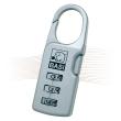 BASI KS 610L luggage padlock long, silver