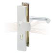 BASI SB 5000 SK2 biztonsági zárpajzs húzólappal, G-K 38-44/15/72, szögletes nikkel ezüst alu