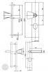 BASI SB 5000 SK2 ZA biztonsági zárpajzs, G-K 38-44/10-18/72, szögletes natúr alu méretezett rajz
