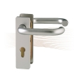 BASI ZT/FS 2100 short security escutcheon, H-H 44-66/72 silver