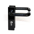 BASI ZT/FS 2150 short security escutcheon, H-H 44-66/72 black