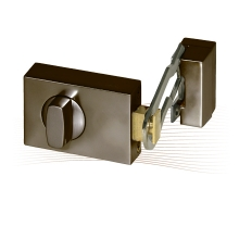 BASI KS 500 rim lock with door guard, Basi AS profile cylinder (EC), brown
