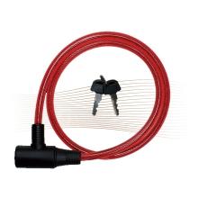 BASI ZR1001 kulcsos spirálhuzalos kerékpárzár 1,0x100cm piros