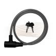 BASI ZR1001 kulcsos spirálhuzalos kerékpárzár 1,0x100cm fekete