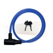 BASI ZR1001 kulcsos spirálhuzalos kerékpárzár 1,0x100cm kék