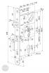 ABLOY EL 560 elektromechanikus bevésőzár 72/55/24 (F) méretezett rajz