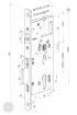 ABLOY EL 520 elektromotoros bevéső zár 72/55/24 (C,F) méretezett rajz