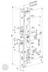 ABLOY EL 420 elektromotoros bevéső zár 92/30/24 (C,F) méretezett rajz