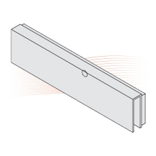 EFFEFF MAGAC G300 adhesive housing for glass doors, 12 mm thick
