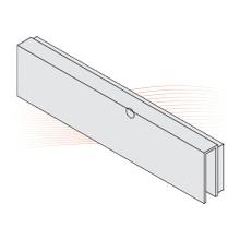 EFFEFF MAGAC G300 ragasztható ház, üvegajtóhoz, 12 mm vastag