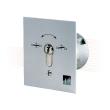 EFFEFF 1142-11-06 kulcsos kapcsoló LED fedél érintkezővel, süllyesztett