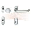EFFEFF 509ZB02-35 vékony biztonsági kilincs és rozetta, G-K, rozsdamentes acél