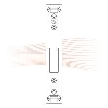 EFFEFF Z29-SBL-1 lapos előlap kampós zárnyelvhez, 24,5x152