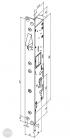 EFFEFF Technilock 844L430ESE elektromos retesz, 30 méretezett rajz