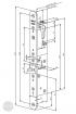 ABLOY EL 404 elektromechanikus bevéső zár, 25-35 méretezett rajz