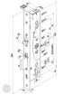 EFFEFF 409X102-1 elektromechanikus bevéső zár, univerzális, 92/30/24 méretezett rajz