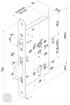 EFFEFF 409X501-4 elektromechanikus bevéső zár, balos, 72/55/20 méretezett rajz