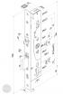 EFFEFF 709X102PZX-1 elektromechanikus bevéső zár, univerzális, 92/30/24 méretezett rajz