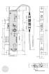 EFFEFF 809-34D elektromechanikus bevéső zár, 12V DC, 92/35/24, D méretezett rajz