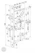 ABLOY EL 561 elektromechanikus bevésőzár 72/55/20 (D,E) méretezett rajz
