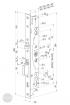 ABLOY EL 460 elektromechanikus bevéső zár 92/30/28 (D) méretezett rajz